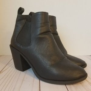 DIVIDED Black Heeled Chelsea Dress Boots